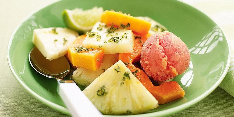 papaya pineapple salad